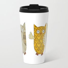 4 Gold Owls Travel Mug