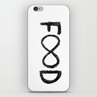 food iPhone & iPod Skins featuring FOOD by Sara Eshak