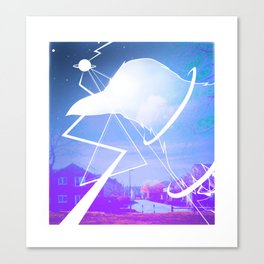 Space Crow -By Mantle Canvas Print