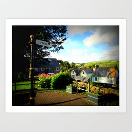 Welcome to Fowey Art Print