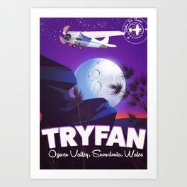 Tryfan Wales travel poster Art Print