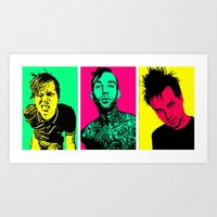 blink 182 Art Prints featuring Blink-182 by ACHE