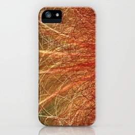 Linear Abstract2-Warm Colors iPhone Case