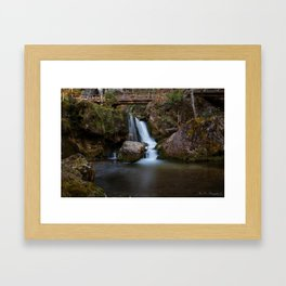 Cascada at Lower Austria Framed Art Print