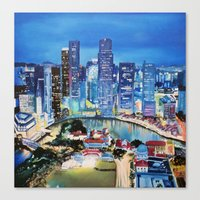 singapore Canvas Prints featuring Singapore by EmileeGraesser