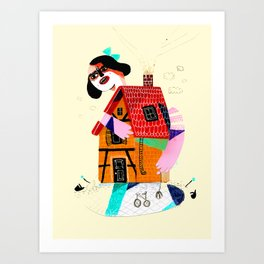 Girl in House Art Print