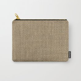 Natural Woven Beige Burlap Sack Cloth Carry-All Pouch