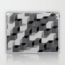Pixel Cube - Black Silver Laptop & iPad Skin