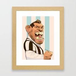 Carlos Tévez Framed Art Print