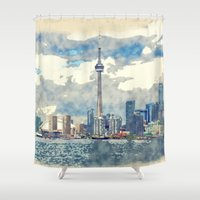 canada Shower Curtains featuring Ontario Canada by Moonlake Designs