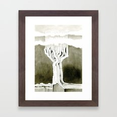 Cubed tree Framed Art Print