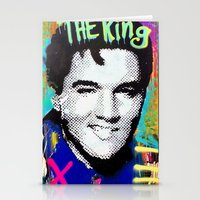 elvis presley Stationery Cards featuring Elvis Presley  by Paola Gonzalez