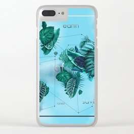 world map-world of nature 3 Clear iPhone Case