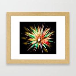 Geometric Firework 14 Framed Art Print