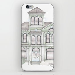 Green Italianate Victorian iPhone Skin