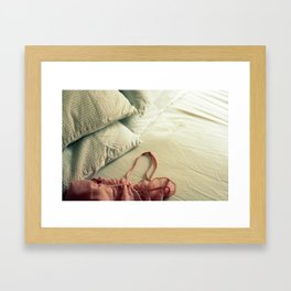 Bed Clothes Framed Art Print