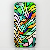 stained glass iPhone & iPod Skins featuring Stained glass by haroulita