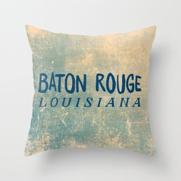 BATON ROUGE LOUSIANA Throw Pillow