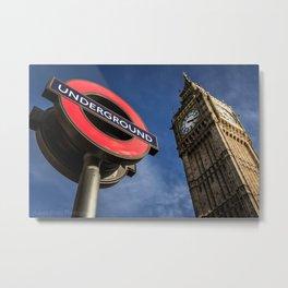 Big Ben & Westminster Underground Station Metal Print
