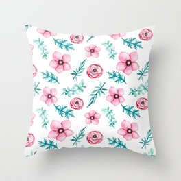 spring flowers Throw Pillow
