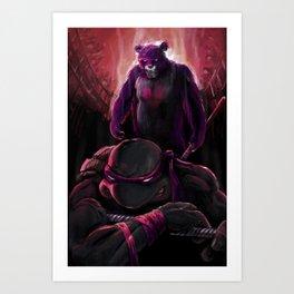 Care Bear vs. Donatello Pit Fight Art Print
