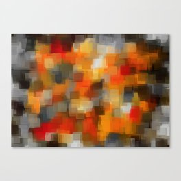 red orange and black square pattern abstract background Canvas Print