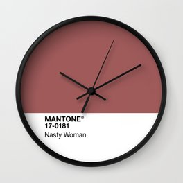 MANTONE® Nasty Woman Wall Clock