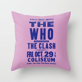 Los Angeles Concert 1982 Throw Pillow