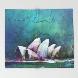 Opera House of Peace, Love & Migration Throw Blanket