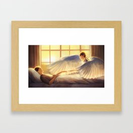 What are you thinking? Framed Art Print