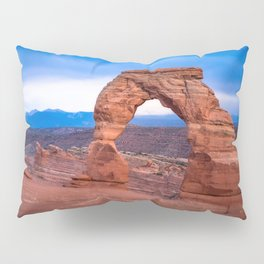 Delicate - Delicate Arch Glows on Rainy Day in Utah Desert Pillow Sham