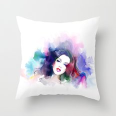 Mixed Girl Throw Pillow