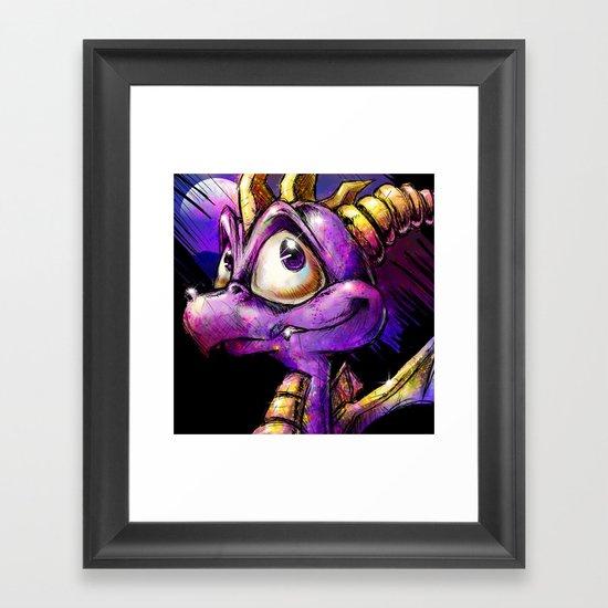 Spyro the Dragon Framed Art Print