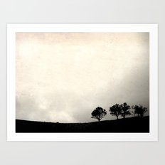 Up on the hill Art Print