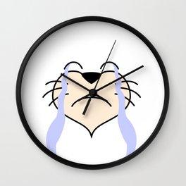 Cat Face - Sad Wall Clock