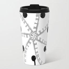 Clock Flower Travel Mug
