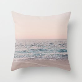 ROSEGOLD BEACH MORNING LANDSCAPE Throw Pillow