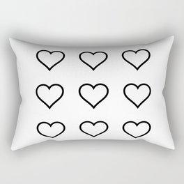Heart 9x Rectangular Pillow