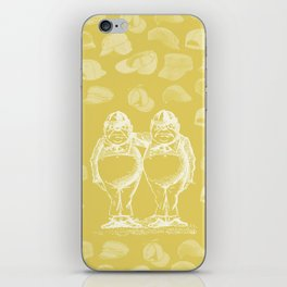 Tweedledum, Tweedledee and Caps iPhone Skin