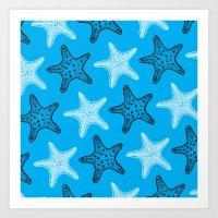 starfish Art Prints featuring Starfish by Dana Martin