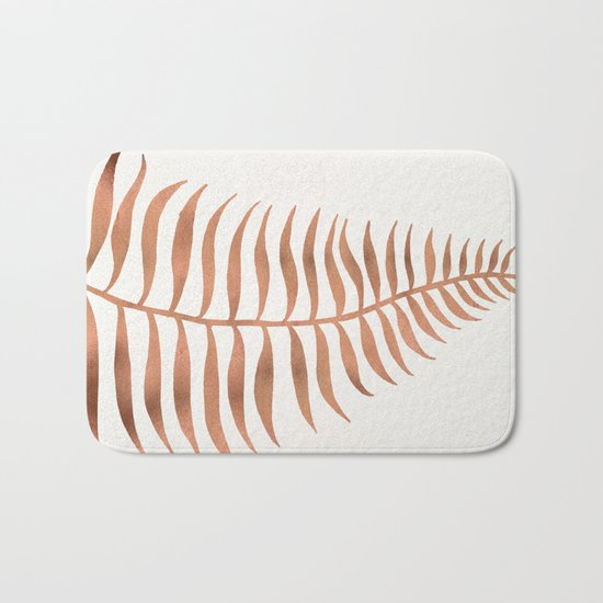 Palm Leaf – Rose Gold Bath Mat