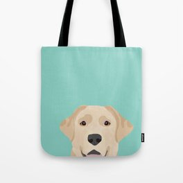Yellow Lab dog portrait labrador retriever dog art pet friendly Tote Bag
