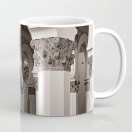 The Historic Arches in the Synagogue of Santa María la Blanca 5, Toledo Spain Coffee Mug