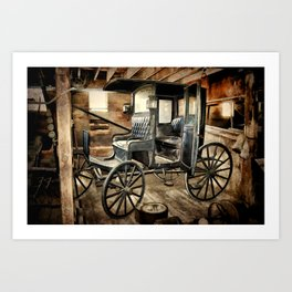 Vintage Horse Drawn Carriage Art Print