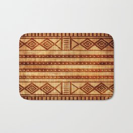 Embossed African Pattern Bath Mat