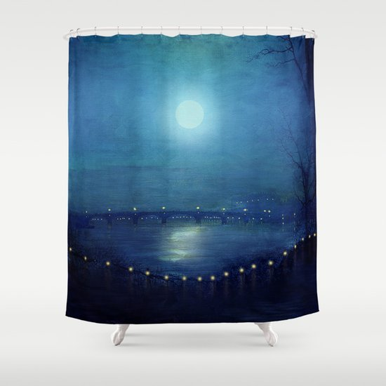 I'll Be Your Moon Shower Curtain