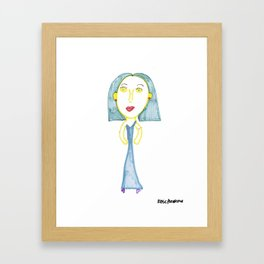 Rose's Blue Lady Framed Art Print
