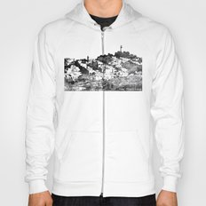 Telegraph Hill Print Black and Grey Hoody
