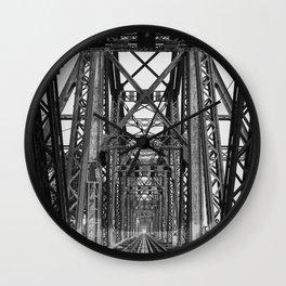 Long Biên Bridge Wall Clock