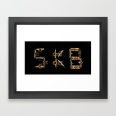 Sk8 typography Framed Art Print